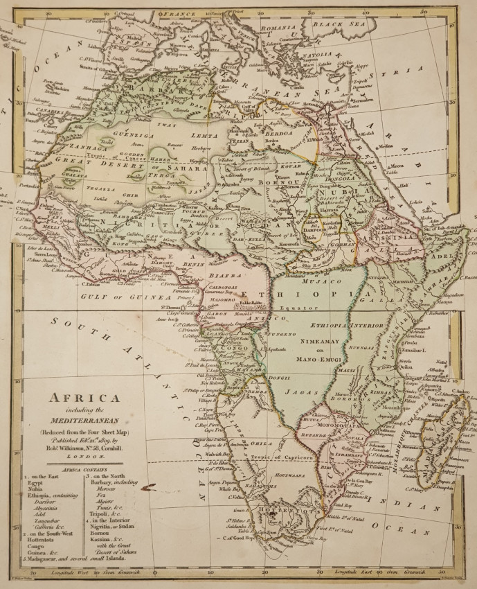 MAP - AFRICA INCLUDING THE MEDITERRANEAN