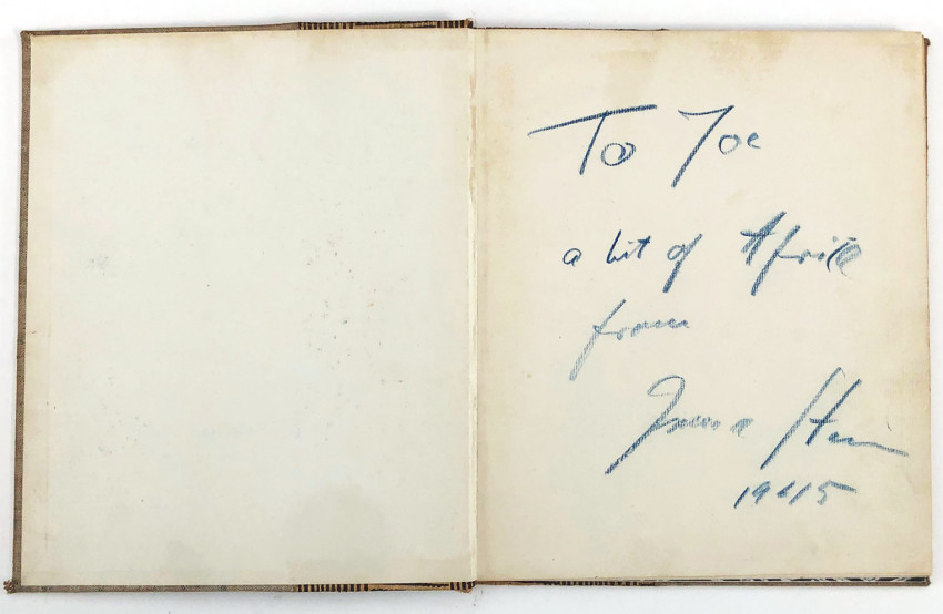 CONGO  - ONE OF 300 SIGNED  COPIES WITH A SIGNED PRESENTATION INSCRIPTION