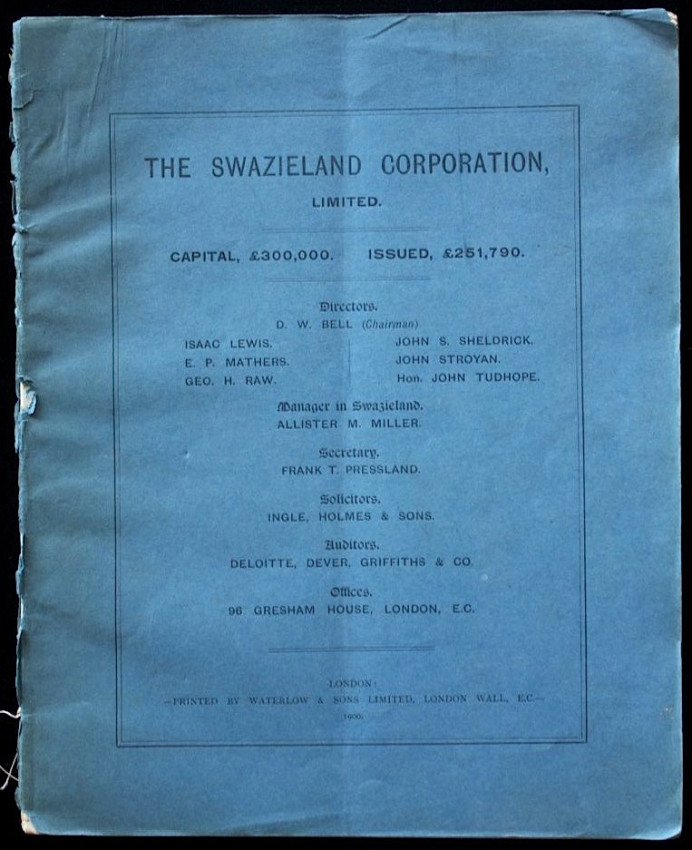 Swazieland And The Swazieland Corporation, Limited. (1900)