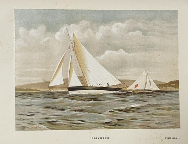 [MARITIME ART] Famous Clyde Yachts 1880-87 from original water colour drawings by Henry Shields