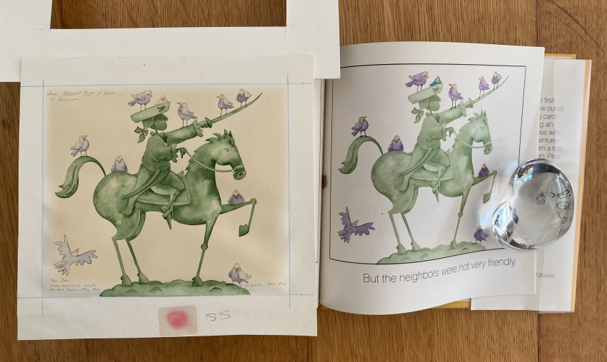 Benedict Finds a Home [with:] an original watercolor, artwork to the published work