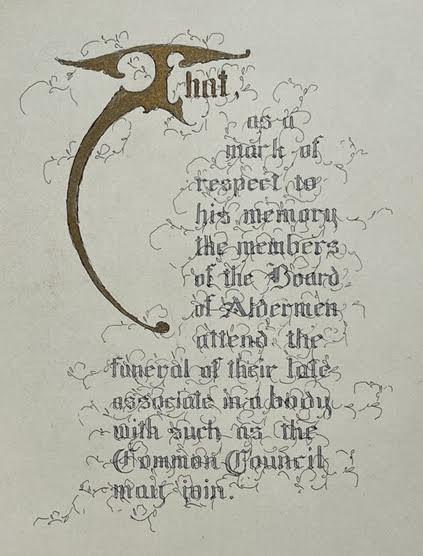Alderman Frederick W. Day, subject] A calligraphic memorial album