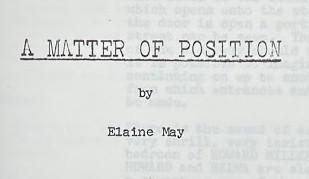 "A copy-typescript of ""A Matter of Position"""