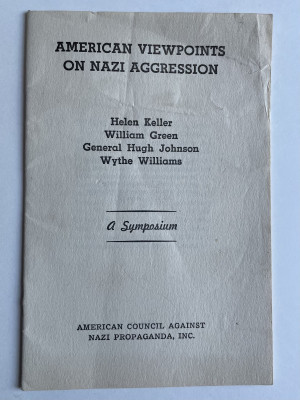 American viewpoints on Nazi aggression, A symposium.