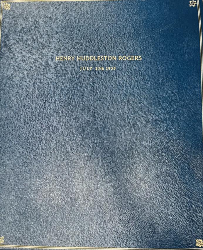 [FINE BINDING] Standard Oil HENRY HUDDLESTON ROGERS— full leather obit scrapbook