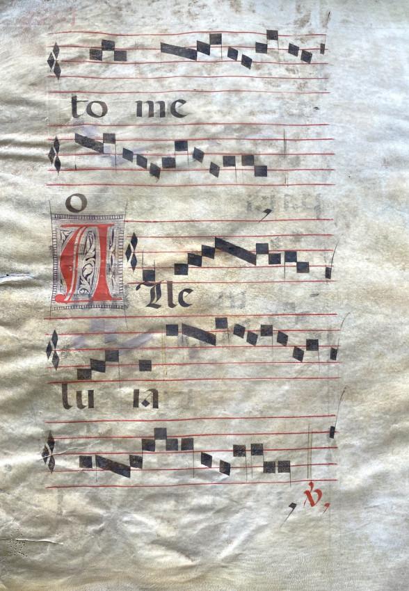 "Single leaf from a Gradual with ""Alleluia"" text, Manuscript on Vellum, Spain, c. 1600"
