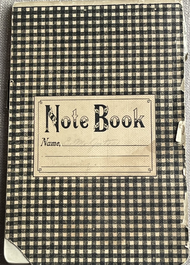 [SCRAPBOOK,  DRAWINGS] Student sketchbook with mimeo instruction sheets by CHARLES B. BRADLEY, c 1909-1911