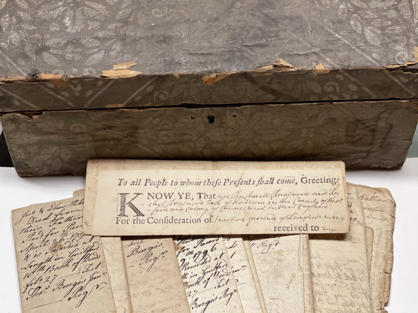 [WILLS, INVENTORIES & DEEDS]  Variety of probate & property papers for 1738-1840's
