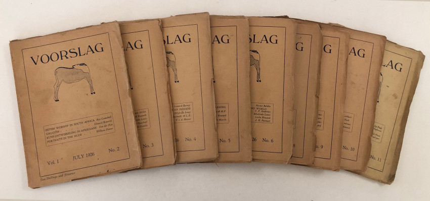 VOORSLAG - 10 OF THE FIRST 11 ISSUES IN THE ORIGINAL WRAPS.