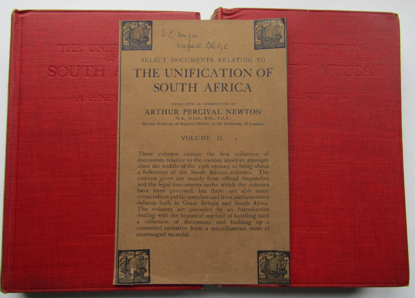 SELECT DOCUMENTS RELATING TO THE UNIFICATION OF SOUTH AFRICA.