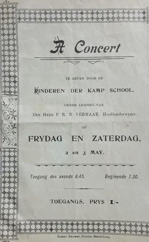 Concert te Geven Door de Kinderen der Kampschool