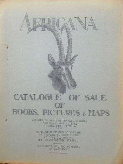 Africana. Catalogue of sale of books, pictures & maps