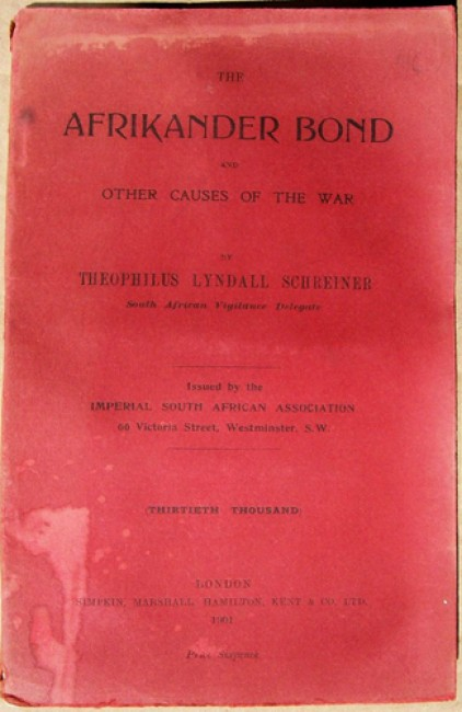 The Afrikander Bond and Other Causes of the War
