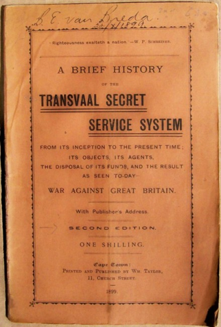 A Brief History of the Transvaal Secret Service System
