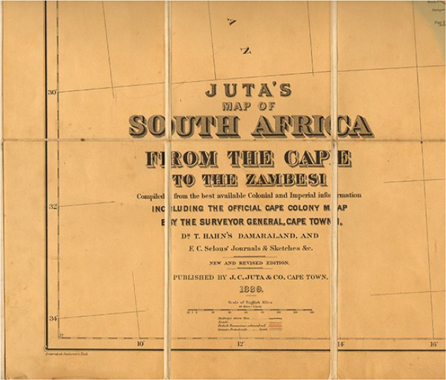 JUTA'S MAP OF SOUTH AFRICA (Folding map)