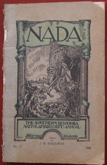 NADA - The Southern Rhodesia Native Affairs Dept Annual (set)