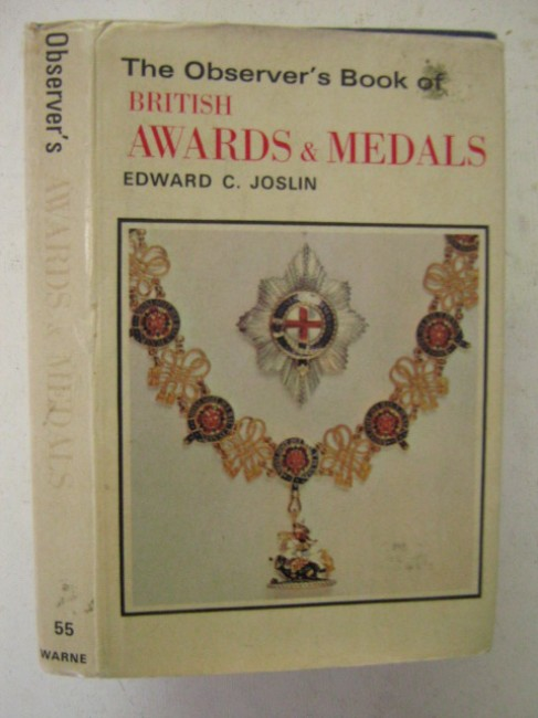 British Awards & Medals (The Observer's Book of..)