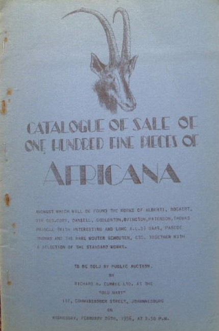 Catalogue of sale of one hundred fine pieces of Africana