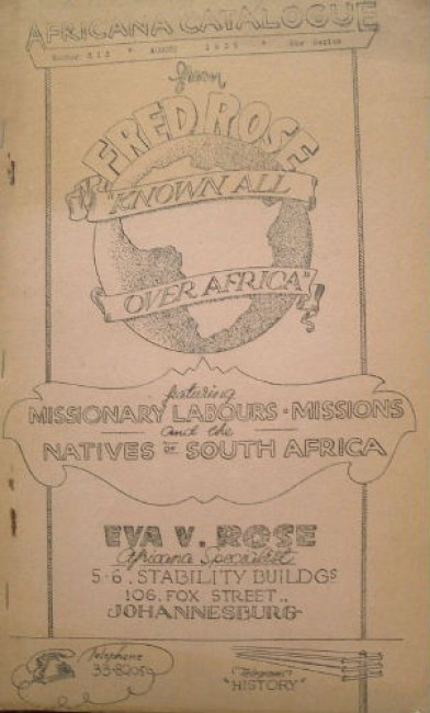 Africana Catalogue. Number Six. New Series. August 1939