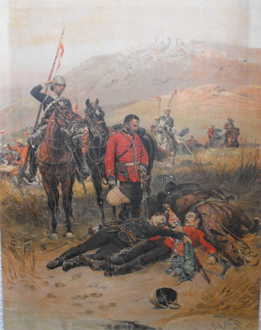 Two Fine Oleographs Depicting Famous Zulu War Scenes (1881)