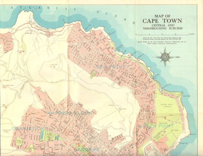 Map Of Cape Town Central And Neighbouring Suburbs - Auction #3 ...