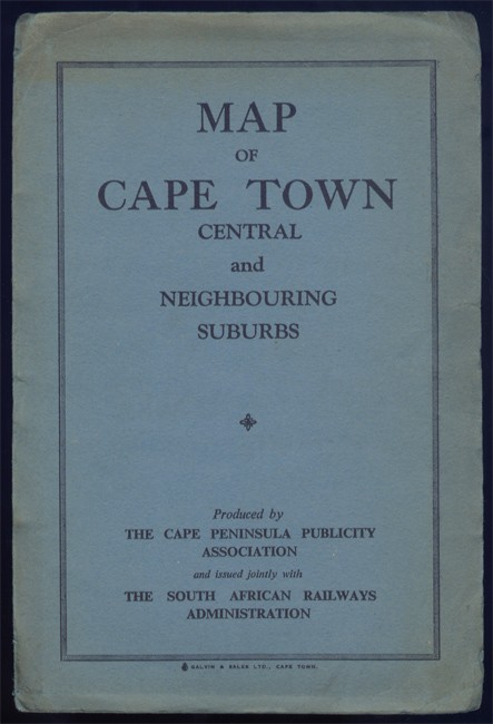 MAP OF CAPE TOWN CENTRAL AND NEIGHBOURING SUBURBS
