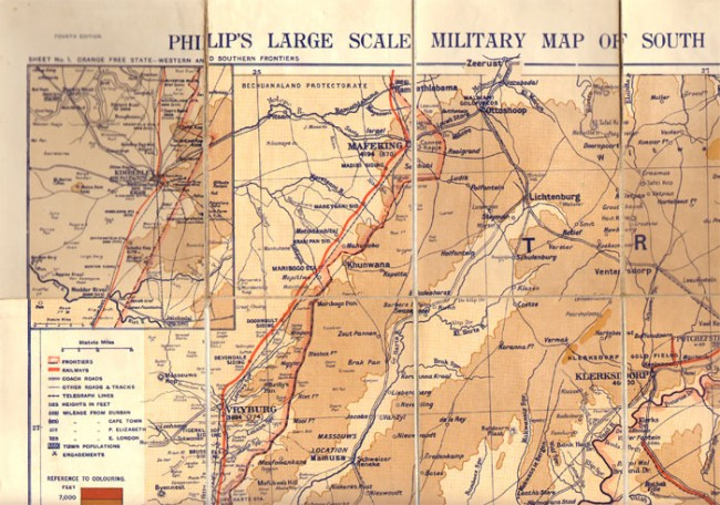 PHILIP'S LARGE SCALE MILITARY MAP OF SOUTH AFRICA, Sheet No. 1