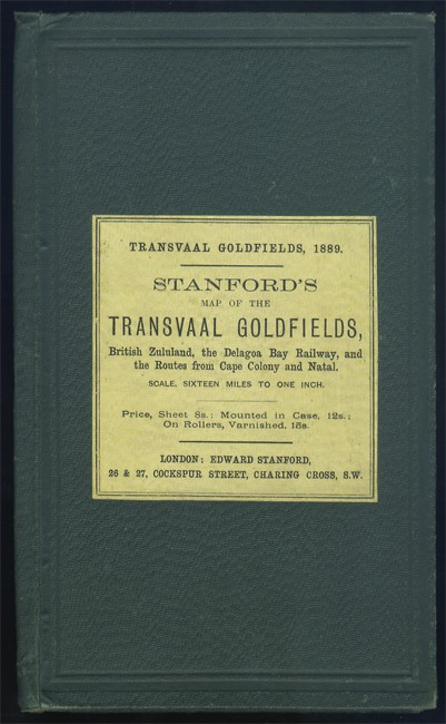 STANFORD'S MAP OF THE TRANSVAAL GOLDFIELDS,