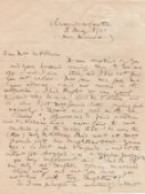 Sir Roger Casement, AUTOGRAPH LETTER IN MANUSCRIPT, SIGNED BY ROGER CASEMENT