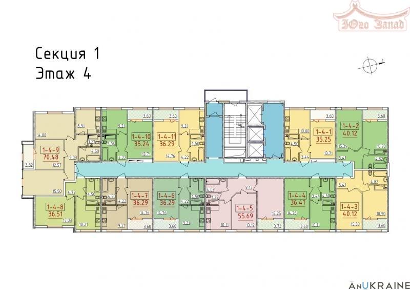 """1-комнатная квартира в ЖК """"34-я Жемчужина"""".   Агентство недвижимости Юго-Запад"""