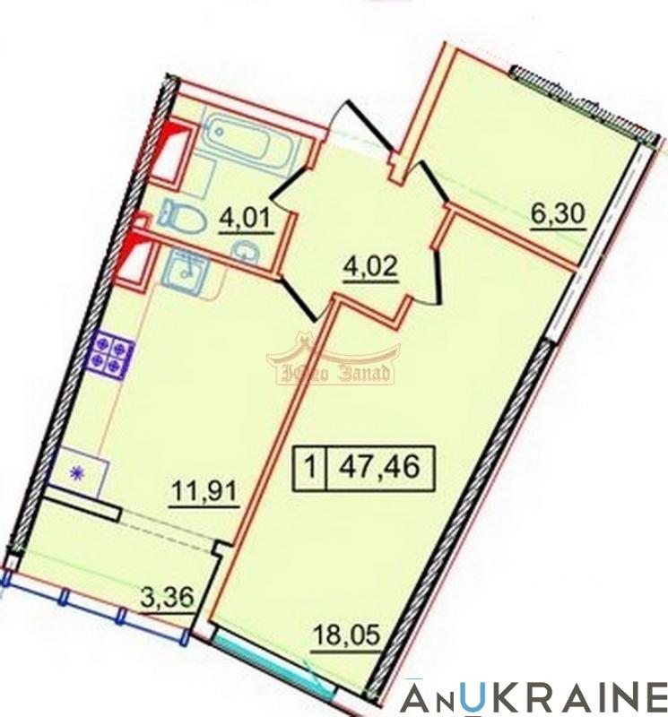 Однокомнатная квартира в 36 Жемчужине   Агентство недвижимости Юго-Запад