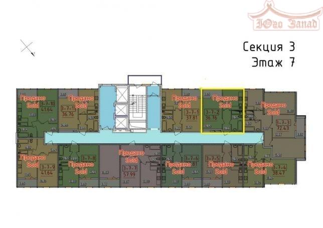 1-комнатная 34 Жемчужина на Бассейной  | Агентство недвижимости Юго-Запад