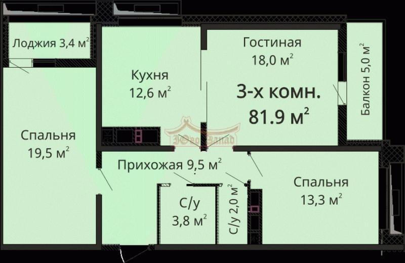 3 комнатная в ЖК Омега | Агентство недвижимости Юго-Запад