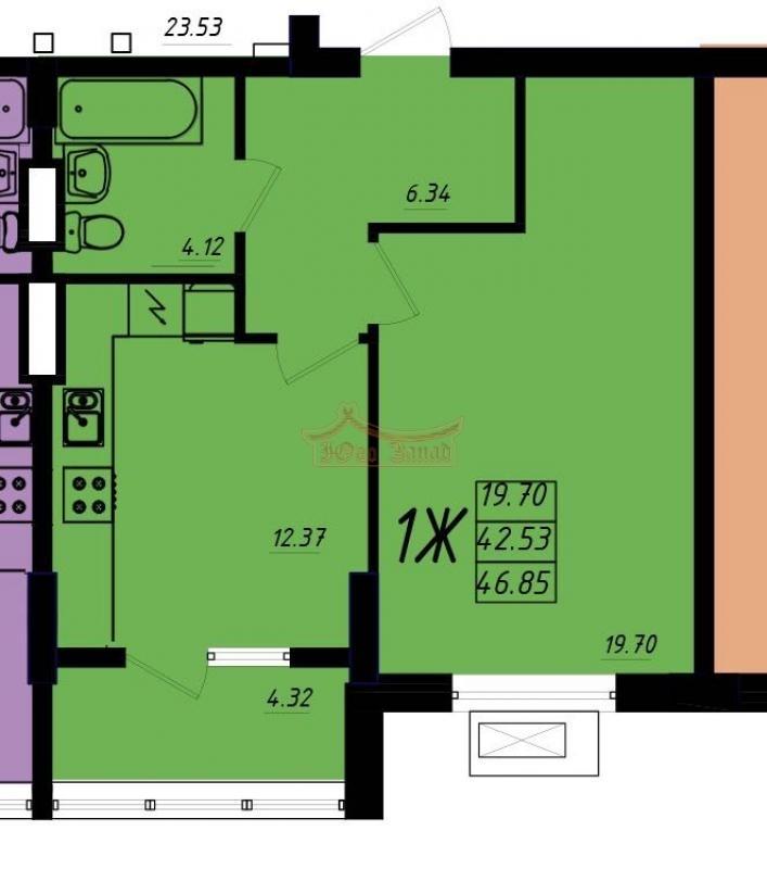 Продается квартира в новом доме на Таирова,Маршал Сити. | Агентство недвижимости Юго-Запад
