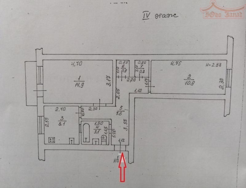 2-х комнатная на 6-ст.Б.Фонтана | Агентство недвижимости Юго-Запад