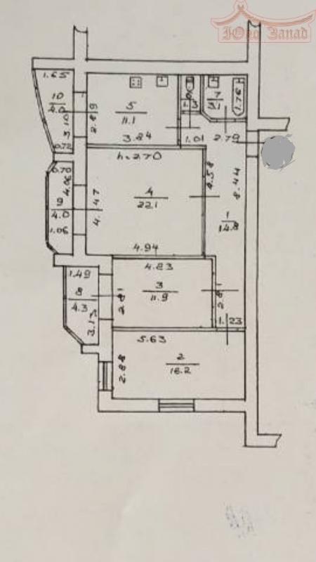 3-комнатная квартира в новом доме из красного кирпича | Агентство недвижимости Юго-Запад