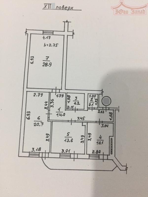 3-комнатная квартира в новом сданном доме    Агентство недвижимости Юго-Запад