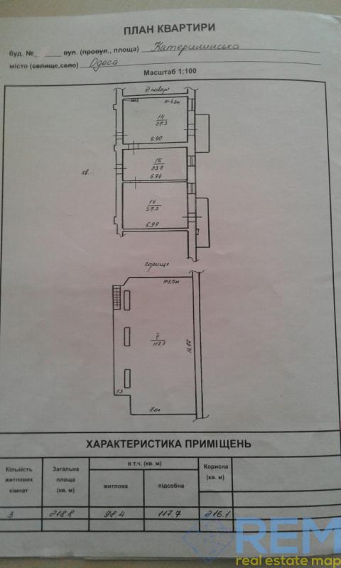 Продам большую 2 -х уровневую квартиру на  Екатерининской площади в историческом центре Одессы.    Агентство недвижимости Юго-Запад