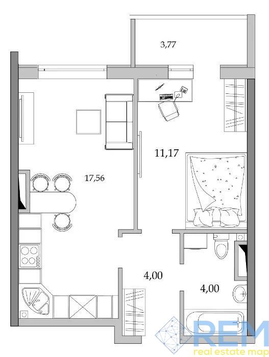 Предлагается к продаже 1-о комн. квартира в новом ЖК Таировские сады.   Агентство недвижимости Юго-Запад