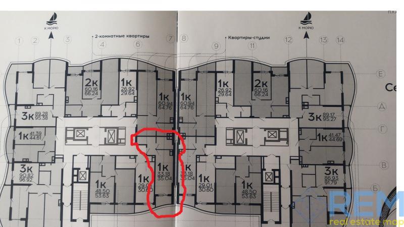 Продам 1 комнатную квартиру в ЖК Корфу у моря | Агентство недвижимости Юго-Запад