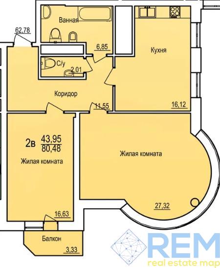 2-комн квартира в ЖК Поющий фонтан | Агентство недвижимости Юго-Запад