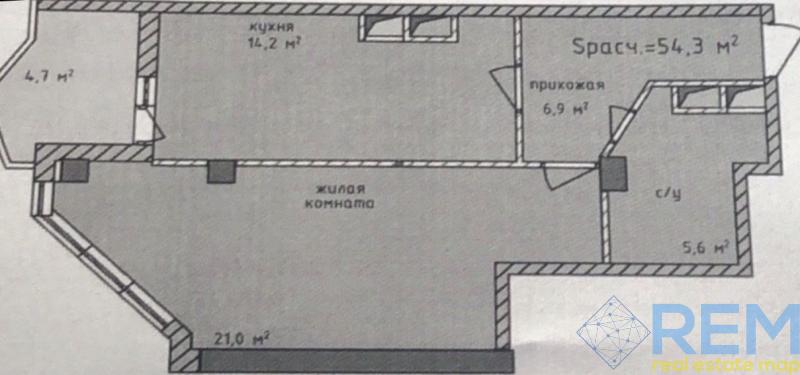 Квартира в новом сданном доме возле моря на 16 станции фонтана.   Агентство недвижимости Юго-Запад