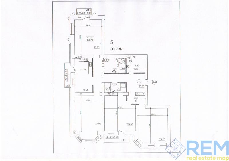 4 комнатная в новом кирпичном доме в центре города   Агентство недвижимости Юго-Запад