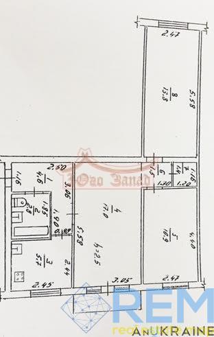 3-х комнатная квартира с отличным ремонтом,25 Чапаевской /Гайдара  без мебели. | Агентство недвижимости Юго-Запад