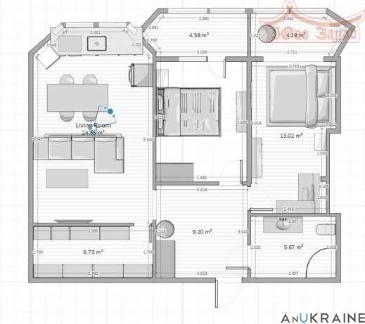 Двухкомнатная квартира на ул.Костанди | Агентство недвижимости Юго-Запад
