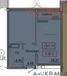 Однокомнатная квартира в 35 Жемчужине | Агентство недвижимости Юго-Запад