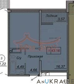 Однокомнатная квартира в 35 Жемчужине   Агентство недвижимости Юго-Запад