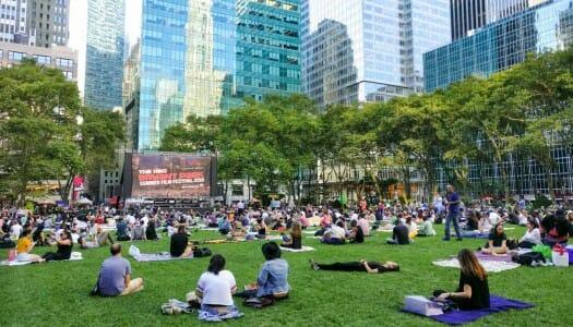 Cine al aire libre en Nueva York (verano de 2019)