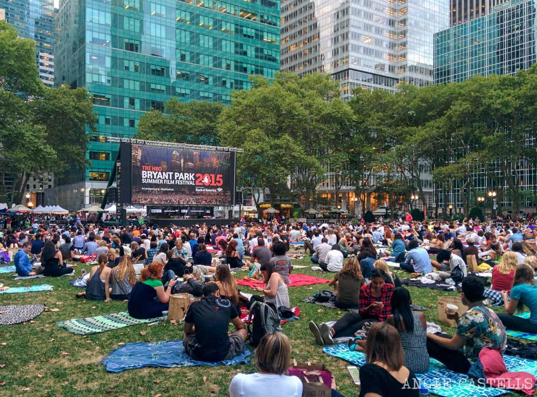 Cine al aire libre Nueva York Bryant Park-1