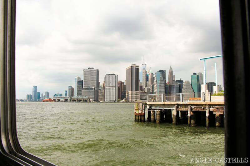 El ferry de Governors Island - Skyline de Manhattan